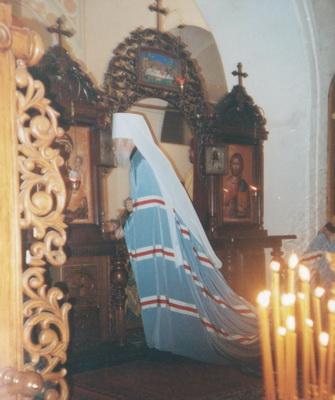 Освящение престола. Храм святителя Николая Угодника