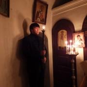 Храмовой праздник в пещерной церкви в честь прп. Феодосия Печерского
