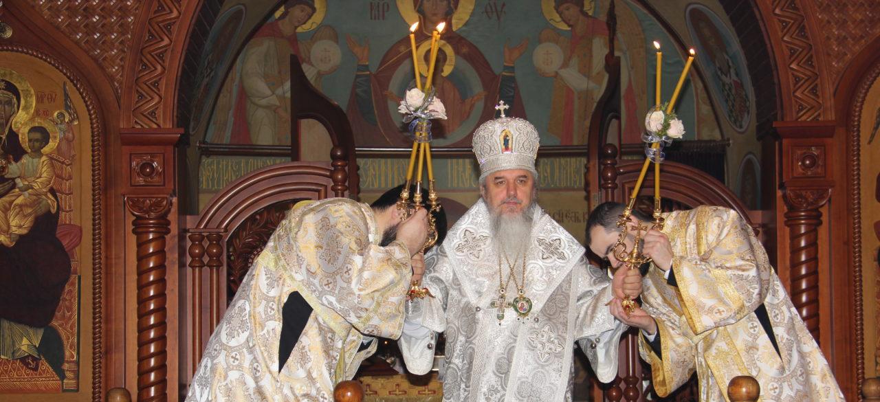 Встреча Рождества Христова на ночной праздничной литургии. 7.01.2019.