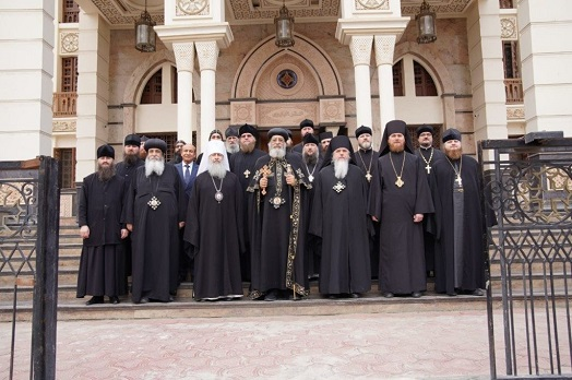 Єпископ Гостомельський Тихон з делегацією звершив паломництво до монастирів Єгипту та зустрілися з Патріархом Коптським Тавадросом ІІ