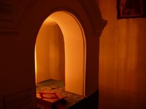 Престол с киворием. Пещерный храм XIV в.