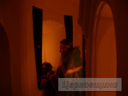 Церковщина.  Пещерный храм в честь преподобного Феодосия Печерского