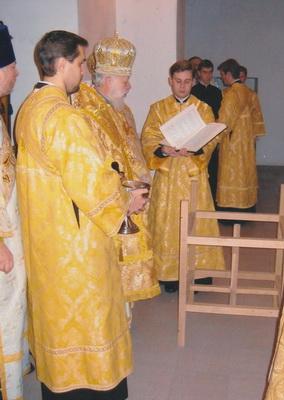Освящение престола. Храм Николая Чудотворца